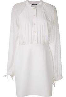 À La Garçonne Vestido Curto Acinturado - Branco