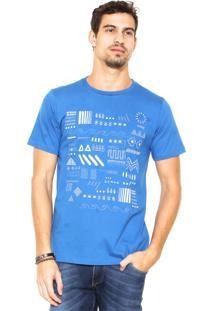 Camiseta Redley Símbolos Azul