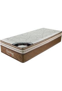 Colchão Solteiro 203X096X36 Latex Soft Gel Pillow Top -Prorelax - Bege / Marrom