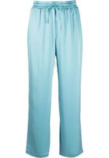 Filippa K Calça Hayley De Cetim - Azul