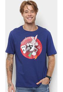 Camiseta Cavalera Estampada Fritzbunny Masculina - Masculino-Marinho