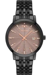 Relógio Technos Trend Preto 2117Laq/4T Feminino - Feminino-Preto