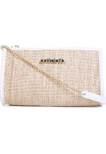 Bolsa Petite Jolie Mini Bag Jane Palha Feminina - Feminino-Branco