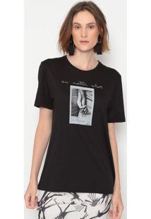 "Camiseta ""No Matter What"" - Preta & Cinza - Forumforum"