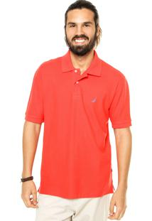 Camisa Polo Nautica Reta Vermelha