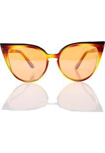 1fe5ff571e752 Morena Rosa · Pegada. Oculos Max Gatinho Degrade Laranja Marrom - Tu