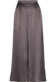 Le Kasha Calça Pantalona Cintura Alta - Cinza