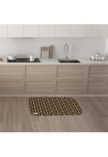 Tapete De Cozinha Mdecore Abstrato Marrom 40X60Cm