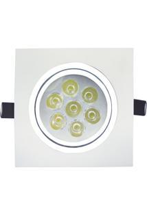 Spot Led De Embutir Quadrado Sp 24 7W Autovolt 6500K Luz Branca