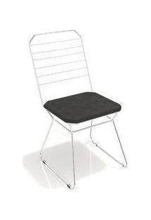 Cadeira Líbia Kappesberg Cromado/Preto