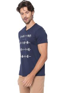 Camiseta Malwee Lettering Azul-Marinho