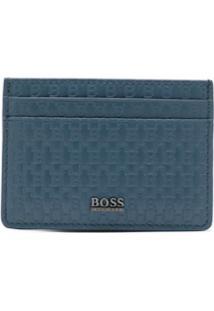 Boss Hugo Boss Carteira De Couro - Azul