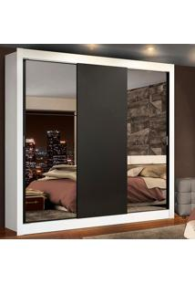 Guarda-Roupa Casal Madesa Lyon Plus 3 Portas De Correr Com Espelhos 4 Gavetas Branco - Branco - Dafiti