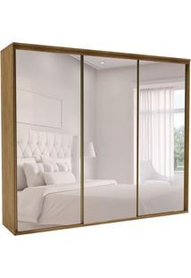 Guarda-Roupa Casal Com Espelho Luminum Ll 3 Pt 6 Gv Álamo