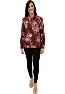 Camisa Manga Longa Energia Fashion Rosa