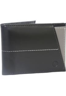 Carteira Em Couro Café Com Porta Cartões Uomo Vitali Cinza 410Ca