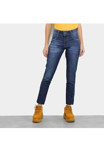 Calça Jeans Skinny Biotipo Melissa Cintura Média Aplicação Feminina - Feminino