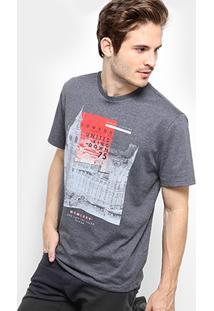 Camiseta Burn United Kingdom Estampada Masculina - Masculino