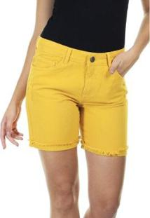 Bermuda Jeans Aha Sarja Feminino - Feminino-Caramelo
