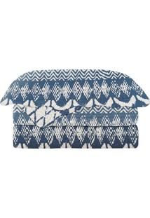 Conjunto De Colcha Evolution Patchwork King Size- Azul Mcamesa