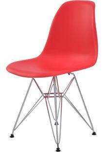 Cadeira Eames Eiffel Pp Vermelha Base Cromada - 44176 - Sun House