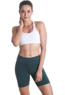 Shorts Curto Color Supplex Verde Escuro Praaiah - Verde - Feminino - Dafiti