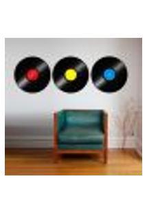 Adesivo De Parede Discos De Vinil 1 - P 22X63Cm