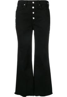 Rag & Bone Calça Jeans Flare Cropped - Preto