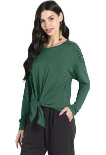 Blusa Feminina Com Amarração Formitz Verde - P