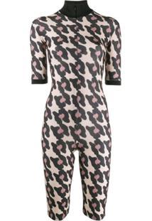 Atu Body Couture Macaquinho Com Padronagem Animal Print - Neutro