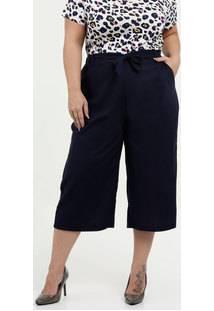Calça Feminina Pantacourt Plus Size Marisa
