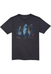 Camiseta Timberland Brazilian Feather. - Masculino-Preto