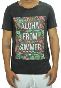 Camiseta Wolfield Rio Dupla Face Aloha From Summer Preta