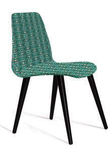 Cadeira Eames Tecido Pe Madeira Daf Verde/Cinza