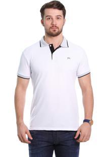 Camisa Polo Javali Branca Poá