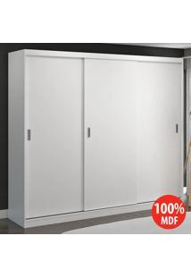 Guarda Roupa 3 Portas De Correr 100% Mdf 7318 Branco - Foscarini