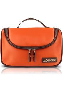 Necessaire De Viagem Com Gancho Jacki Design Abc14103 Laranja