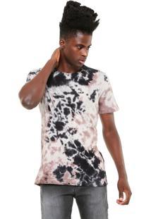 Camiseta Mcd Tie Dye Cinza/Rosa