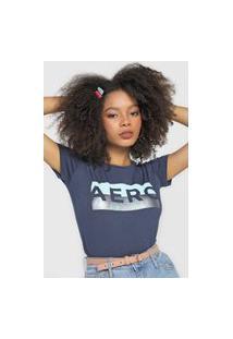 Camiseta Aeropostale Logo Azul-Marinho