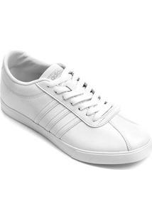 Tênis Couro Adidas Courtset W Feminino - Feminino-Branco