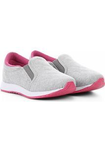 Tênis Via Vip Jogging Iate Moletom Feminino - Feminino-Cinza+Pink