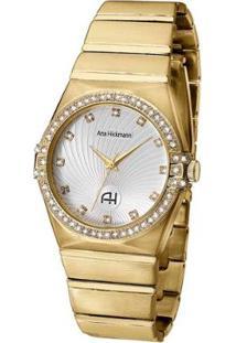 Relógio Analógico Ana Hickmann Ah28188H Feminino - Feminino-Dourado