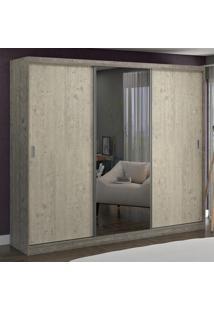 Guarda-Roupa Casal 3 Portas Com 1 Espelho 100% Mdf 1905E1 Demol/Marfim Areia - Foscarini