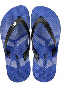 Chinelo Kenner Summer Sport Masculino - Masculino-Branco+Azul