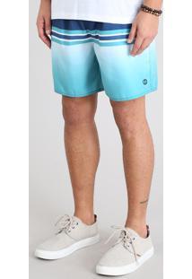 Short Masculino Com Listras Azul Marinho