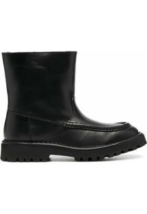 Kenzo Ankle Boot De Bico Redondo - Preto
