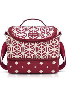 Bolsa Térmica Com 2 Compartimentos Jacki Design Bella Vitta Vermelho Escuro