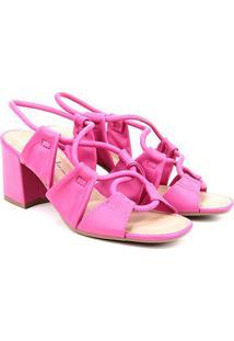 Sandália Dakota Salto Bloco Tiras Cruzadas Feminina - Feminino-Pink