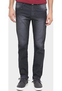 Calça Preston Lavada Black Slim Fit - Masculino-Preto