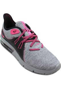 Tênis Nike Air Max Fury Sequent 3 Feminino - Feminino-Cinza+Preto